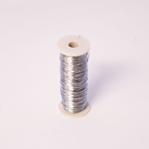 Thin Silver Reel Wire for Floristry & Flower Arranging Roll (28 Gauge) from Smithers Oasis