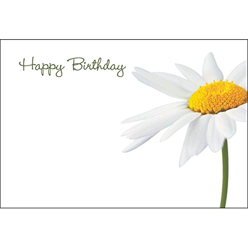 Worded Emotions Floristry Message Cards Flowers and Floral Gifts (Happy Birthday White) from Smithers Oasis
