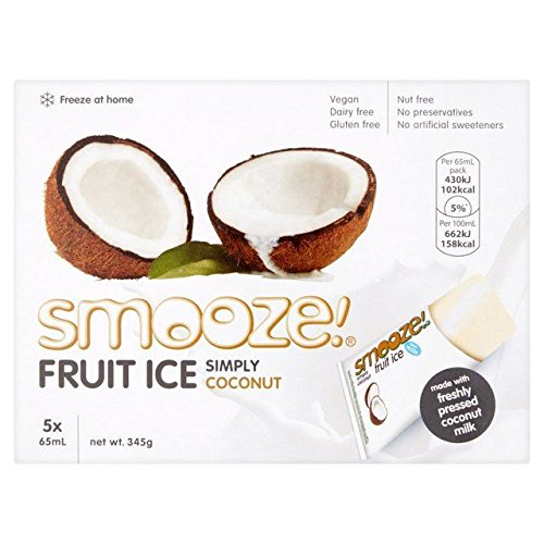 Smooze Simply Coconut Fruit Ice Lollies 5 x 65ml from Smooze