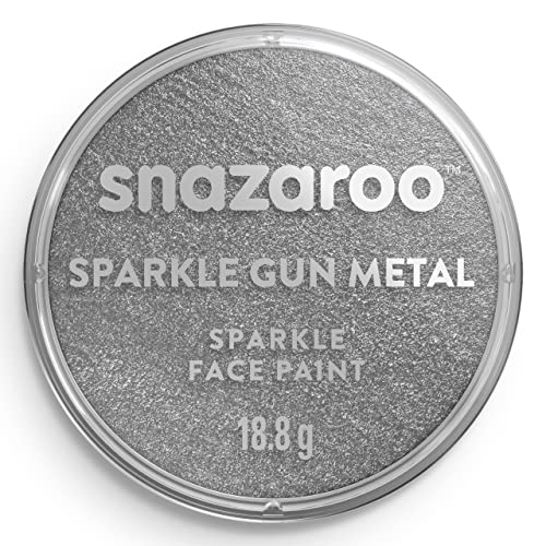 Snazaroo Face and Body Paint, 18 ml - Sparkle Gunmetal Grey (Individual Colour) from Snazaroo