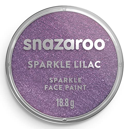 Snazaroo Face and Body Paint, 18 ml - Sparkle Lilac (Individual Colour) from Snazaroo