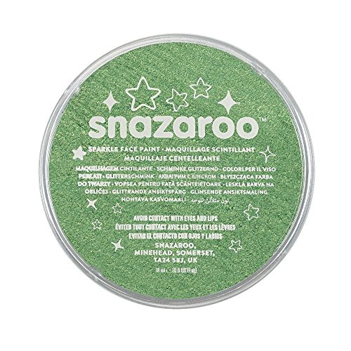 Snazaroo Face and Body Paint, 18 ml - Sparkle Pale Green (Individual Colour) from Snazaroo