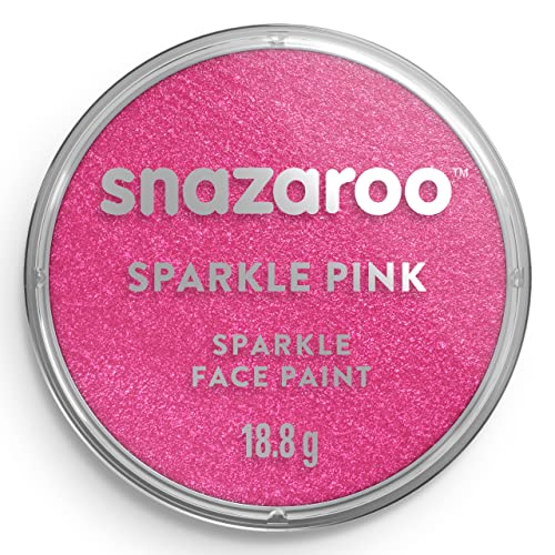 Snazaroo Face and Body Paint, 18 ml - Sparkle Pink (Individual Colour) from Snazaroo