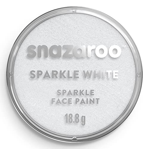 Snazaroo Face and Body Paint, 18 ml - Sparkle White (Individual Colour) from Snazaroo
