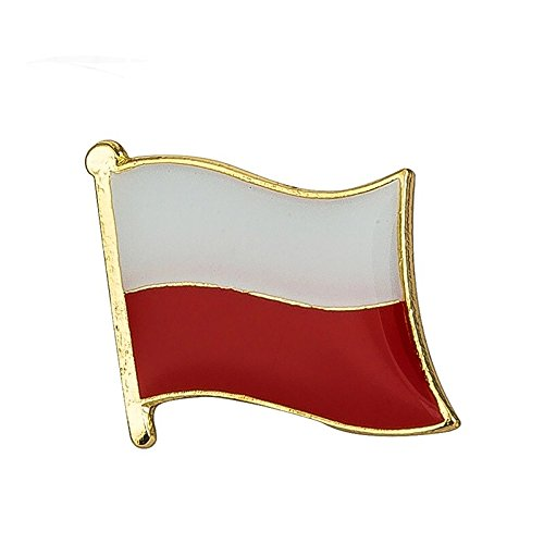 Poland Polish flag - metal pin badge - enamel front and butterfly clasp. from Snazzyflags