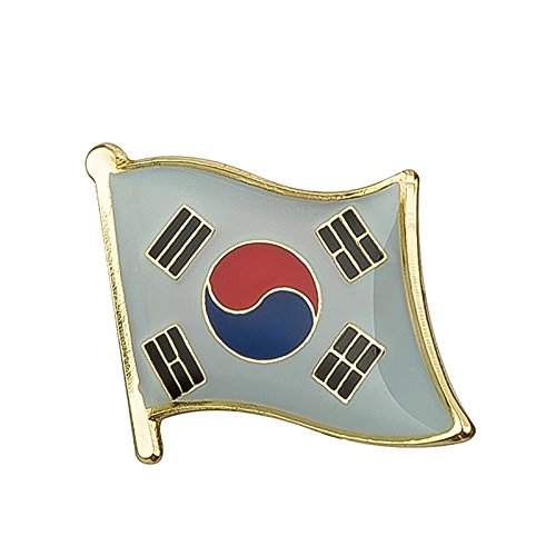 South Korea flag - metal pin badge - enamel front and butterfly clasp. from Snazzyflags