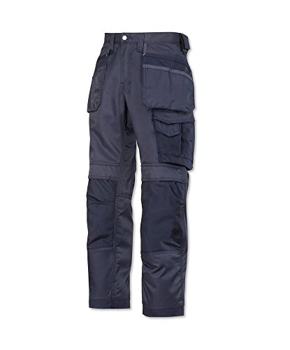 Snickers STC-NM239NA-34S 3212 Duratwill Trouser with Holster Pockets, Short, Plain, 52% Cotton/48% Polyamide, Size: 34, Navy from Snickers