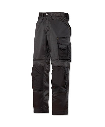Snickers STC-NM245BK-36S 3312 Duratwill Trouser without Holster Pockets, Short, Plain, 52% Cotton/48% Polyamide, Size: 36, Black from Snickers