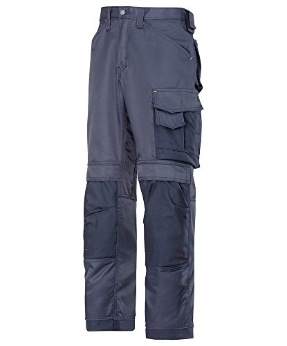 Snickers STC-NM245NA-32S 3312 Duratwill Trouser without Holster Pockets, Short, Plain, 52% Cotton/48% Polyamide, Size: 32, Navy from Snickers