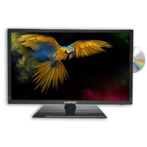 Sniper 19″ HD LED Travel TV with built in DVD, Satellite and Freeview, 12V, 24V & Mains. DVB-T2 & DVB-S2 from Sniper