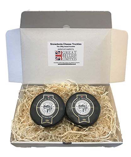 Snowdonia Cheese Company Gift Hamper Containing 2, 200g Black Bomber Truckles from Snowdonia Cheese Company
