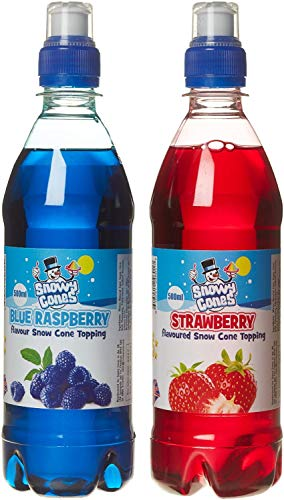 Snowycones Flavour Syrup/Blue Raspberry and Strawberry Twin Pack 500 ml from Snowycones