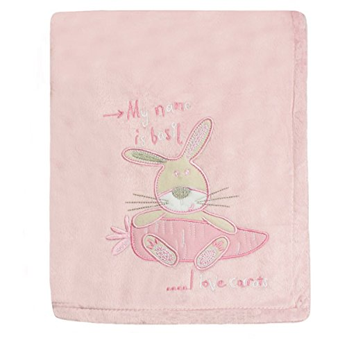 Snuggle Baby Bunny Baby Blanket, Pink, Moses/Crib/Pram from Snuggle Baby
