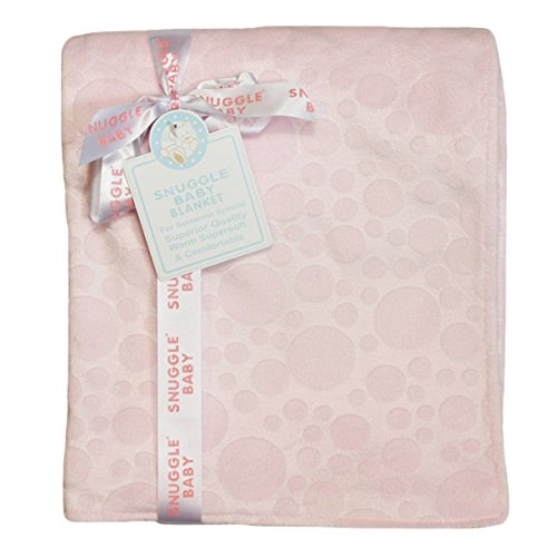 Snuggle Baby Embossed Baby Blanket, Pink, Moses/Crib/Pram from Snuggle Baby
