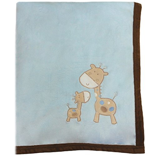Snuggle Baby Giraffe Baby Blanket, Sky Blue, Moses/Crib/Pram from Snuggle Baby