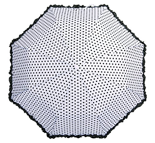 Polka Dot Umbrella with Frills and Sparkles (White) from SOAKE
