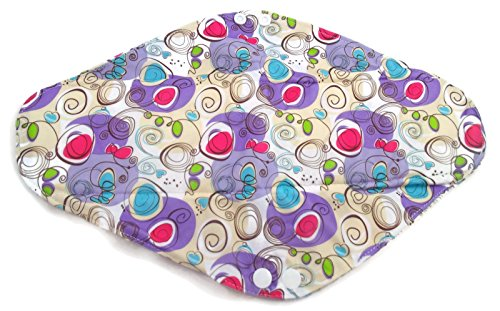 Soft Touch Bamboo Essentials Reusable Sanitary Pads, Regular Purple, Set of 5 from Soft Touch Bamboo Essentials