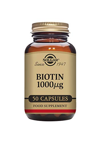 Solgar 1000 mcg Biotin Vegetable Capsules - Pack of 50 from Solgar