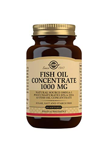 Solgar Fish Oil Concentrate 1000 Mg Softgels, Pack of 60 from Solgar