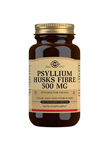 Solgar Psyllium Husks Fibre 500 mg Vegetable Capsules - Pack of 200 from Solgar
