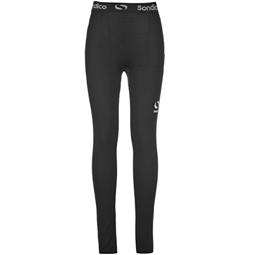 Sondico Kids Core Tights Junior Compression Fit Exercise Sport Baselayer Bottoms Black 5-6 Yrs from Sondico