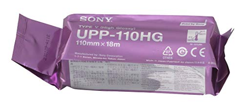 SONY UPP110HG high glossy videographic thermal paper rolls for medical printers - A6 (110mm x 18m) from Sony