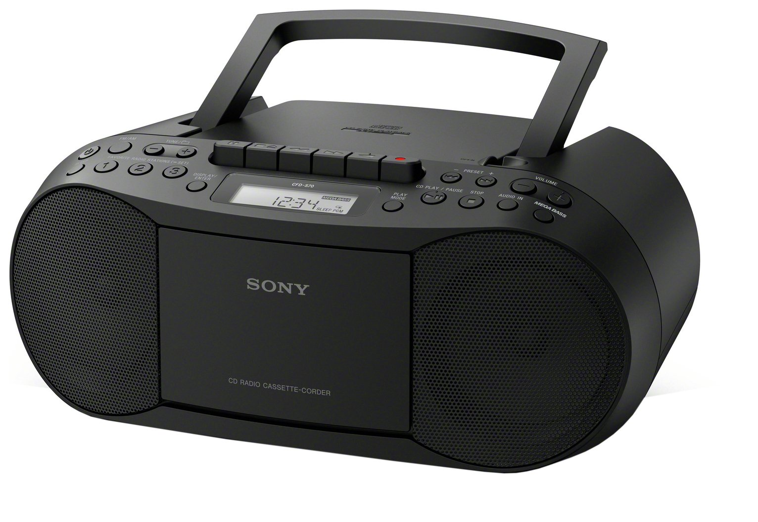 Sony - CFD-S70 CD and Cassette Player ? Black from sony