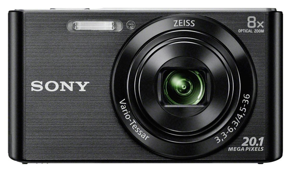 Sony - Cybershot W830 20MP 8x Zoom Digital Camera - Black from Sony
