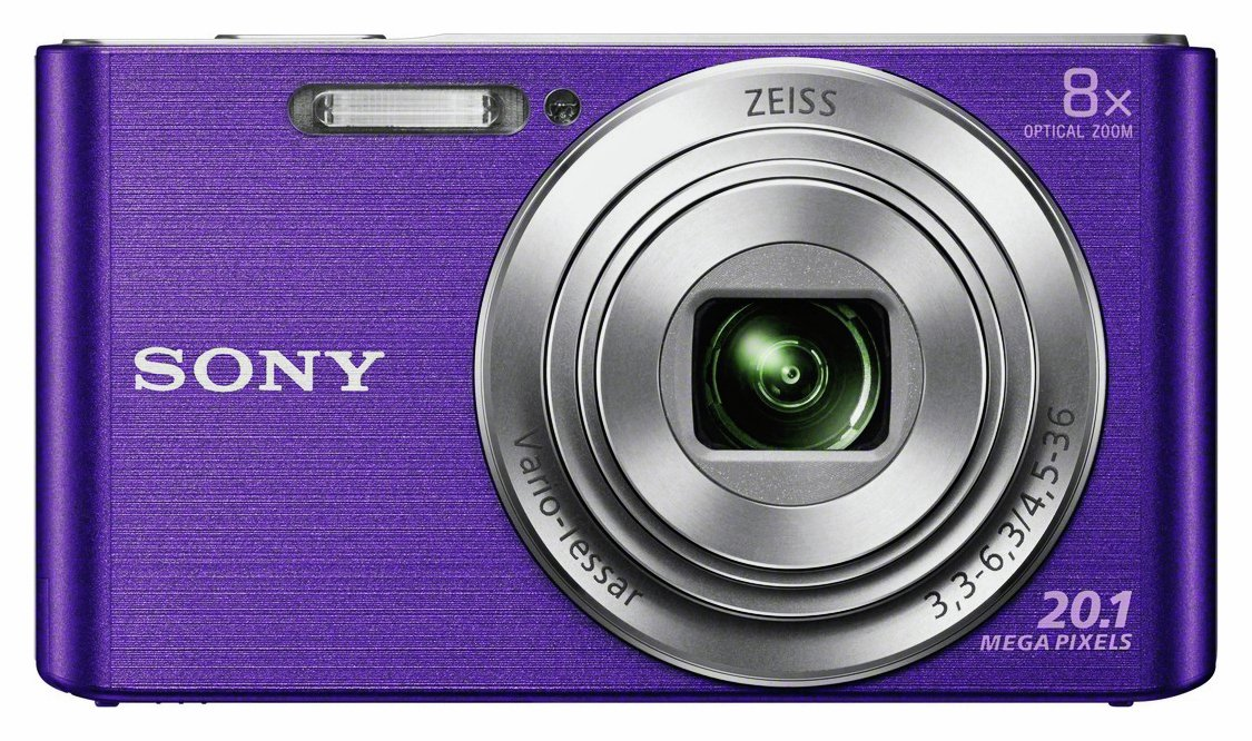 Sony - Cybershot W830 20MP 8x Zoom Digital Camera - Purple from Sony