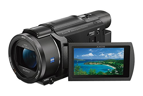 Sony FDR-AX53 Ultra HD 4K Compact Camcorder (HD 5-Axis Balanced Optical SteadyShot, 20x Optical Zoom, Wi-Fi and NFC), Black from Sony