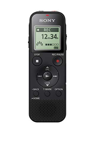 Sony ICD-PX470 Digital Wide-Stereo MP3 Voice Recorder with S-Microphone, Built-In USB, 4 GB Memory, SD Memory Slot and 55 Hours Recording from Sony