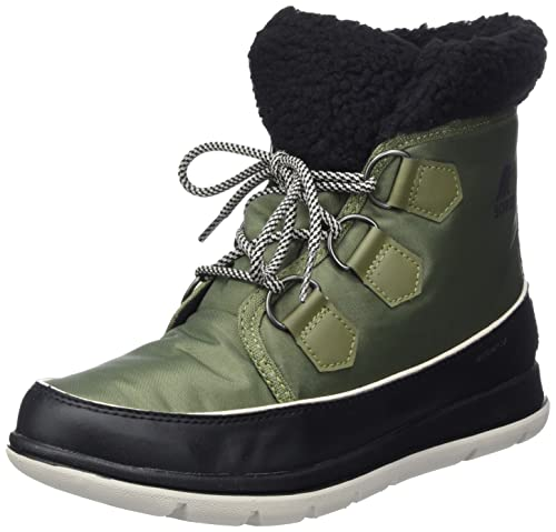 Sorel Women's Boots, Sorel Explorer Carnival, Green (Hiker Green)/Black, Size UK: 3 from Sorel