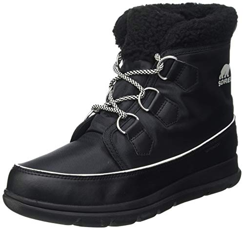 Sorel Women's Explorer Carnival Snow Boots, Black/Grey (Sea Salt), Size UK: 7 from Sorel
