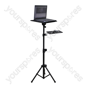 Adjustable Tripod Laptop Stand with Mouse Shelf from SoundLAB