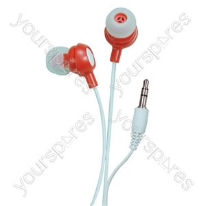 Bud Type Digital Stereo Earphones - Colour Risky Red from SoundLAB