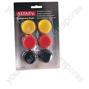 Coloured Replacement Earphone Pads x 3 Pairs - Pad Size 40mm from SoundLAB