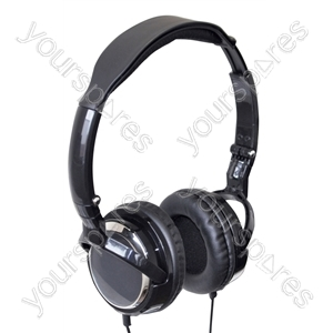Combo Pack of Digital Folding Stereo Headphones with Extended Bass and Digital Stereo Earphones from SoundLAB