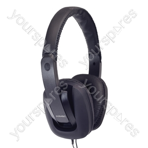 Digital Stereo Fashion Headphones With Luxury Padded Headband - Colour Black from SoundLAB