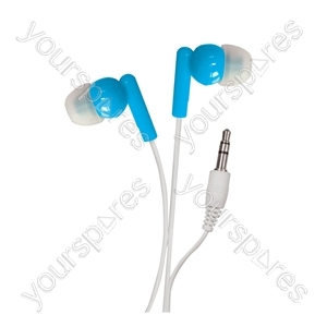 In-Ear Stereo Earphones - Colour Blue from SoundLAB