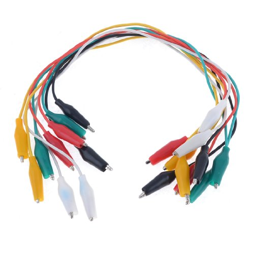 10 Pcs Colorful Double Ended Alligator Clips Test Lead Jumper Wires from Generic