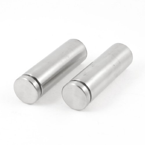 "2 Pcs 0.98"" Dia Stainless Steel Hardware Advertising Nails Standoff 3.1"" Long from Sourcingmap"