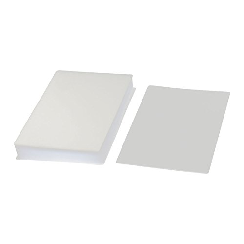 Plastic Photo Card Laminating Pouch Film 95mmx135mm 100 Micron 100pcs from Sourcingmap