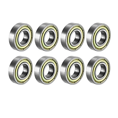 sourcing map 6900ZZ Deep Groove Ball Bearing Double Shield 6900-2Z 1080900, 10mm x 22mm x 6mm Carbon Steel Bearings (Pack of 8) from sourcing map
