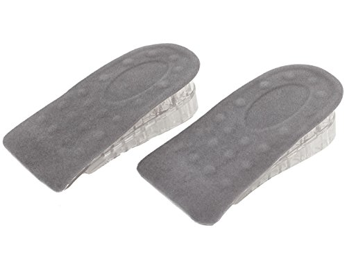 "sourcingmap 2 Pcs Dark Grey Clear Soft Silicone Gel Taller Heel Insert Insoles Pads 1.4"" Up from Sourcingmap"