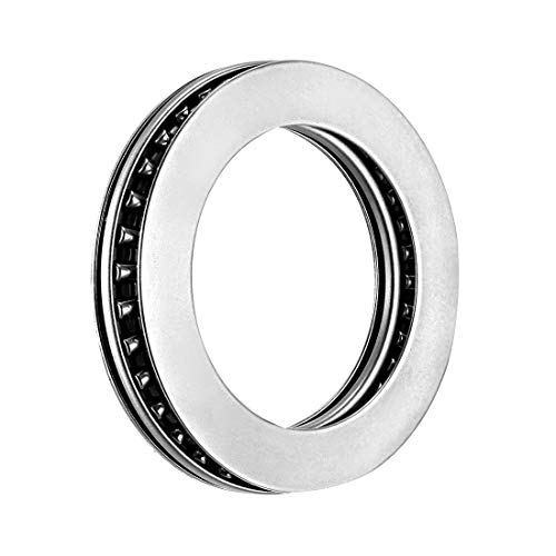 sourcing map AXK4565+2AS Needle Roller Thrust Bearings with Bearing Washers, 45mm Bore Diameter, 65mm OD, 5mm Total Thickness from sourcing map