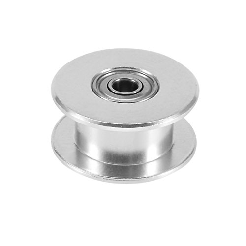 sourcingmap Aluminum GT2 3mm Bore Toothless Timing Belt Idler Pulley Flange w Ball Bearings for 3D Printer from Sourcingmap