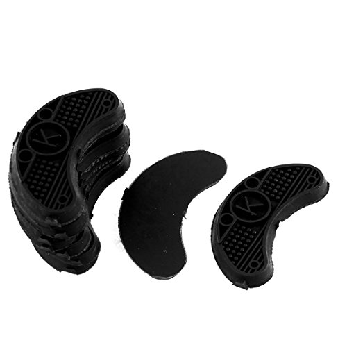 sourcingmap Nonslip Rubber Shoes Heels Sole Guard Plates Taps 10Pcs Black from Sourcingmap