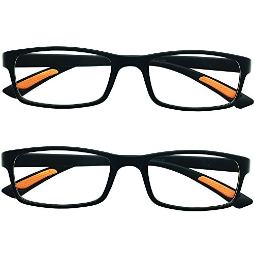 2 Pairs Southern Seas Lightweight Flexi Black Frame Mens Womens Reading Glasses Spectacles from Southern Seas