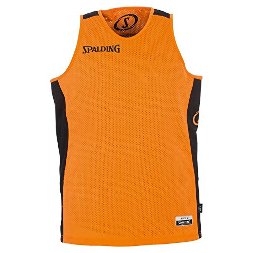 Spalding Men's Essential Reversible Shirt, Orange/Black, 2X-Small from Spalding