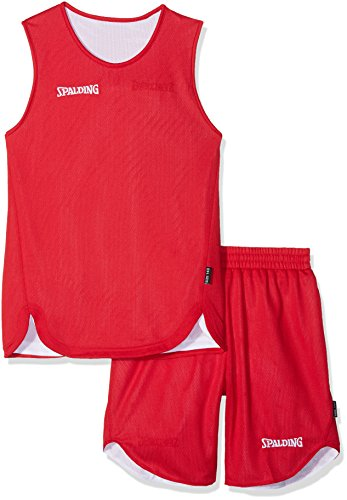 Spalding Double face Kids Jersey & Shorts Set, Red/White, 164 from Spalding